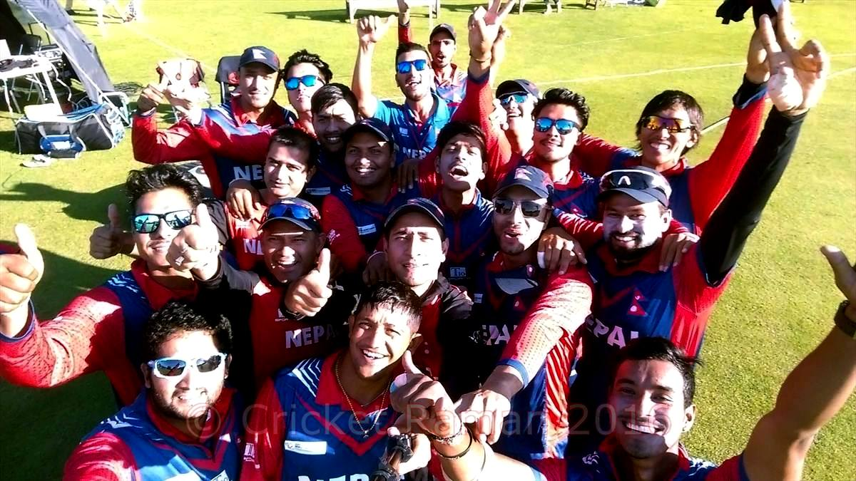 Nepal Cricket team selfie