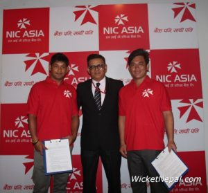 Raju Rijal and Prem Tamang with Laxman Risal ( CEO of NIC Asia Bank )