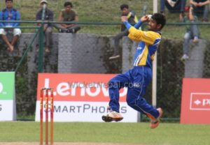Dipendra Airee bowling