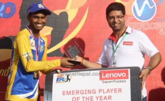Emerging player of the tournament Aasif Sheikh