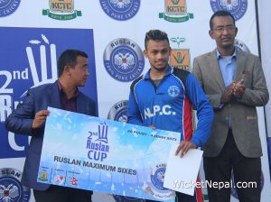 Kushal Bhurtel Most Sixes in Ruslan Cup
