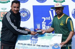 Man of the match (Sanjay Basnet of Ruslan KCTC)