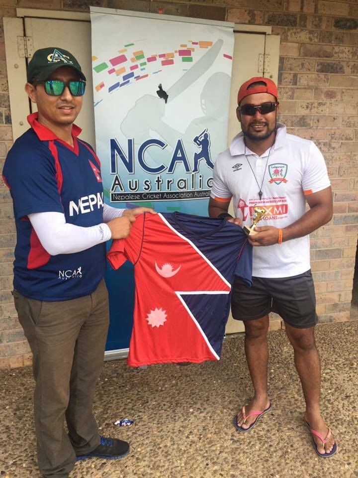 Arjen Aryal smashes 6 sixes in an over