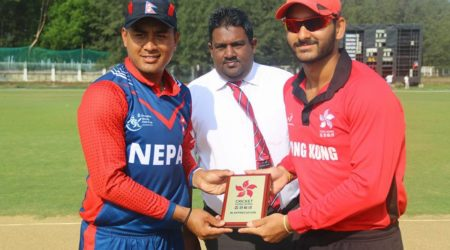 Veswakar,Malla and Airee guides Nepal towards their first win.