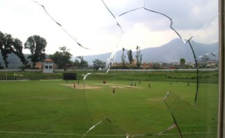 View of Tribhuwan University Cricket Ground from Official Box