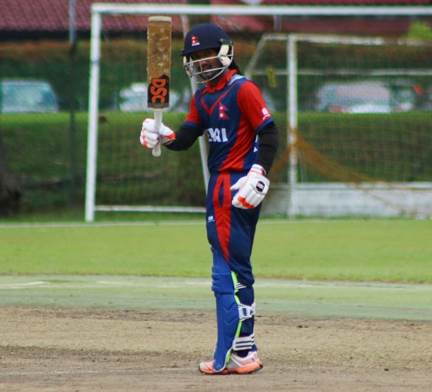 Dipendra Airee scored 54 runs off 83 balls smashing 2 fours and 2 sixes