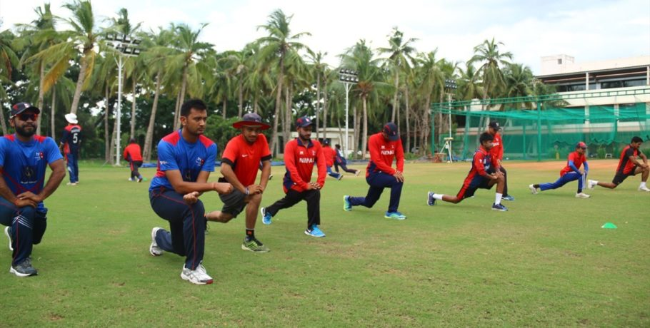 Nepal Cricket Team practice in Chennai India