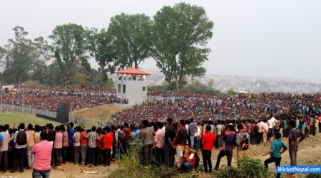 Nepal Cricket Fans at TU Cricket Ground