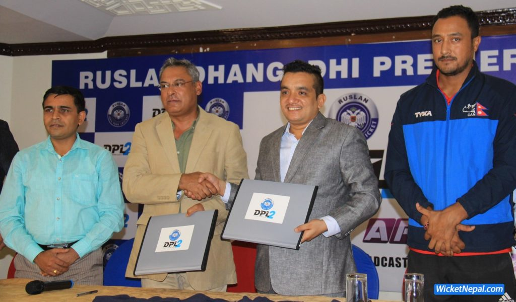 Subash Shahi signed the agreement paper as the director of Dhangadhi Cricket Academy while the director of Jawalakhel group of industries Mr.Harsha Shamsher signed the agreement paper on behalf of the Ruslan Cricket.