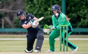 New Zealand's Amelia Kerr hits out at Clontarf Cricket Club. Photograph: Morgan Treacy/INPHO/REX/Shutterstock