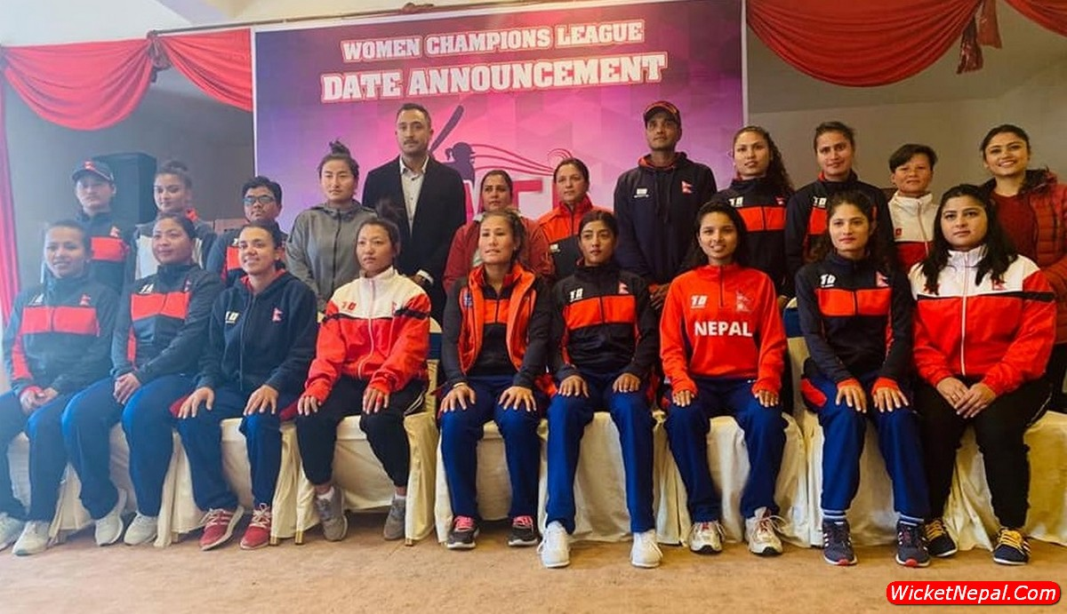 Womens Cricket Team with Binod Das & Paras Khadka